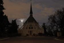 """Moonrise Over Ivy Chapel I"" - Fairmount Cemetery"