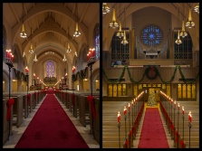 """""""Christmas At Montview Stained Glass Diptych"""" - Montview Boulevard Presbyterian Church, Denver, Colorado"""